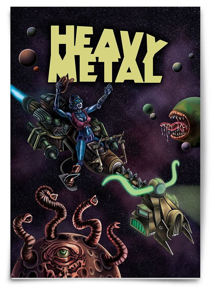 Heavy Metal Magazine Layout