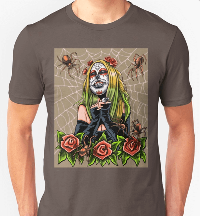 Spider-Sugar-Skull-Shirt